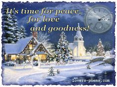 It's time for peace, for love and goodness! blue glitter animated gif sparkle christmas christmas quote christmas graphic christmas pic
