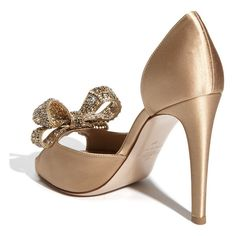 Valentino Jewelery Couture Bow d'Orsay Pump ❤ liked on Polyvore
