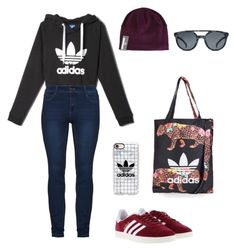 Wintery adidas outfit by hemuliini on Polyvore featuring polyvore, fashion, style, adidas, Casetify, Topshop and clothing Adidas Outfit, Casetify, Polyvore Fashion, Topshop, Clothing, Outfits, Style, Swag, Suits