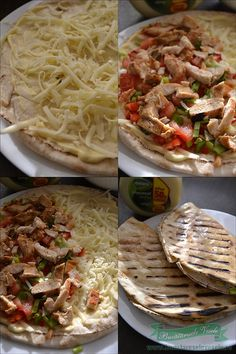 Quesadilla cu Pui si Cascaval Romanian Food, Romanian Recipes, Shawarma, Quesadilla, Fajitas, Halloween, Summer Recipes, Cookie Recipes, Bacon