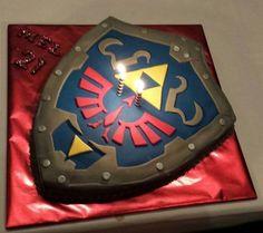 TLoZ shield cake!