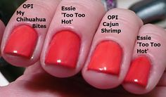 Opi A Good Mandarin Is Hard To Find Vs Hot And Spicy Nars Lipstick in Heatw...