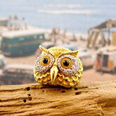 Crystal retro owl ring,shop fashion jewelry at Costwe.com