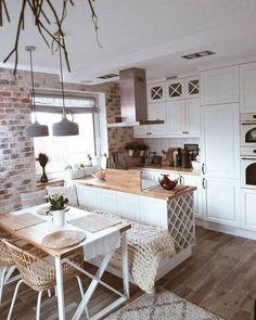 Kitchen Room Design, Home Decor Kitchen, Interior Design Kitchen, Home Kitchens, Cuisines Design, House Rooms, Kitchen Remodel, Sweet Home, House Design