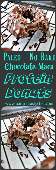 Easy No Bake Donut Recipe that's Vegan, gluten free donuts, healthy donuts, doughnuts, Healthy Dessert Recipes, Healthy Desserts, Whole Food Recipes, Paleo Recipes, Paleo Dessert, Vegan Sweets, Kitchen Recipes, Bread Recipes, Protein Donuts