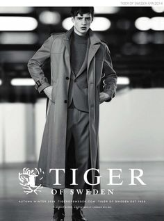 Adrien Sahores Dons Tiger of Sweden Suit + Coat for Fall/Winter 2014 Ad Campaign image Tiger of Sweden Suit Coat Fall Winter 2014 Campaign A...