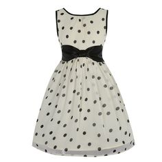 Candy Mini Cream Polka Dot Dress