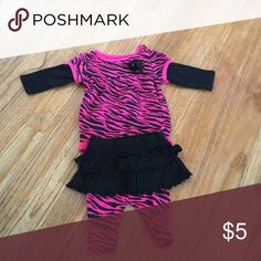 Newborn outfit Zebra outfit. New never worn. Matching Sets