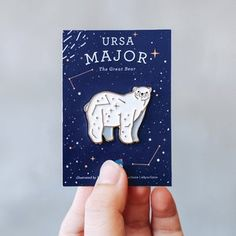 Space Patch, Bear Wedding, Babe, Ursa Major, Cool Pins, Pin And Patches, Pin Badges, Watercolor Print, Pin Collection