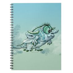 BOCK ALIEN MONSTER CUTE SPIRAL BOOK Custom office supplies #business #logo #branding