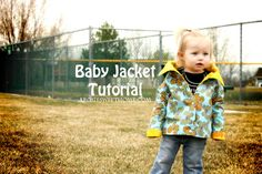 Baby Jacket Tutorial...Not sure I can do this, but I do need to work on making clothing. Little clothes are so much easier. ;)