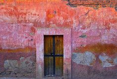 Beautiful, colorful Mexico.  A door in San Miguel de Allende, Guanajuato, Mexico.