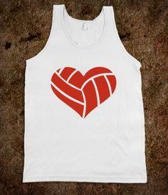 Volleyball Heart @Abby Hazelo @Emma Zangs