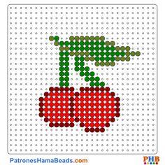 Cerezas plantillas hama beads web 40967