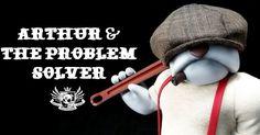 """Arthur & the Problem Solver"" new release from Huck Gee!!! #Artist #DesignerToyArtToy #HuckGee #LimitedEdition #Resin"