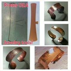 Jewelry tools by Kevin Potter at Potter USA.  How To: videos on YouTube (search Kevin Potter)!...  For daily updates, friend Kevin Potter on Facebook at website: www.potterusa.com Copper bracelets by Joni Kisro.