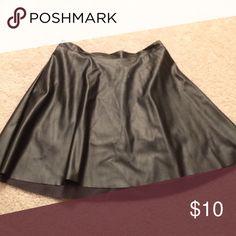 Black pleather skater skirt Perfect for Halloween!!! Skirts Mini