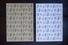 Papel de regalo otoñal // Fall wrap free printable