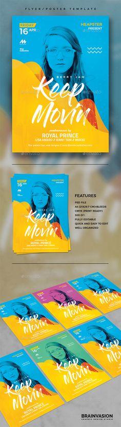 Modern Flyer Template Vol.08 — Photoshop PSD #best seller #modern • Download ➝ https://graphicriver.net/item/modern-flyer-template-vol08/19696121?ref=pxcr