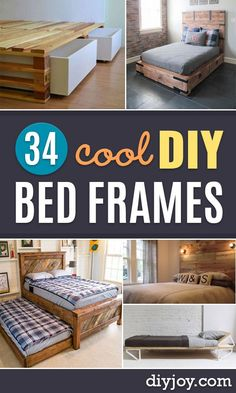 DIY Bed Frames - How To Make a Headboard - Do It Yourself Projects for Platform Beds Twin King Queen and Full Bed - Kids Rooms Drawers and Storage Units Bookshelf - Rustic Farmhouse Style Furniture For Your Bedroom Modern Decor DIY Bed Frames - How How To Make Headboard, How To Make Bed, Dream Furniture, Furniture Plans, Furniture Dolly, Furniture Online, Furniture Stores, Diy Furniture Cheap, Luxury Furniture