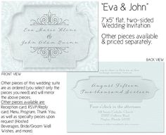 Luxe Wedding Invitation by WillowRoadDesign on Etsy