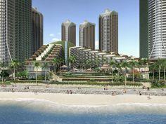 Co-designed by SED-IA Architecture and LKP Architecture. #leisure #tourism #skyscraper #hotel #beach #architecture