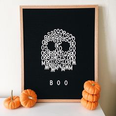 So ready for Halloween! Halloween Letters, Fete Halloween, Holidays Halloween, Halloween Crafts, Halloween Decorations, Outdoor Decorations, Word Board, Quote Board, Message Board