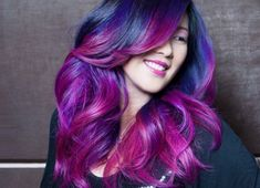 Ombre hair color is here to stay. Be inspired with these 15 beautiful ombre hair color ideas and get ready for a hair makeover! Ombre Hair Color, Purple Ombre, Purple Hair, Violet Hair, Purple Balayage, Purple Highlights, Dark Purple, Pink Blue, Hot Pink