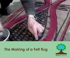 This is a felt rug making demonstration by Haj Ali Halajian a fifth generation Iranian felter. Haj ali is from northern town of Ramsar, and is one of the last felters still working in Iran. Wool Felting, Nuno Felting, Felt Crafts, Fabric Crafts, Felting Tutorials, Yarn Bombing, Handmade Felt, Felt Dolls, Modern Rugs