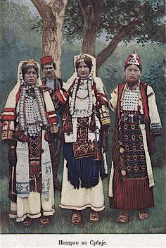 Raska HISTORIC COSTUME PRE 1910. A very old Dinaric costume from border regions of Bosnia/Hercegovina and Raska (sometimes called Sandzak). it is a good lead n in how costumes change. southwestern and central western Serbia received waves of Hercegovinian Bosnian and Montenegrin settlers in the 18th century. For more than a century a very Dinaric style costume endured. only after WWI did the costume begin to radically change under i