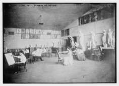 Life drawing class, Library of Congress, via Flickr