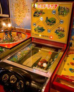 ミニドライブ。 #熱海 #レトロ #game Arcade Game Machines, Arcade Machine, Arcade Games, Vintage Games, Vintage Toys, Showa, Penny Arcade, Cool Electronics, Game & Watch