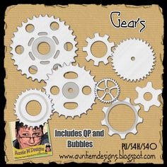 Auntie M Designs: Chain Parts and Gears