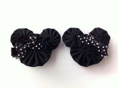 Minnie Mouse yoyo hair clips by Carladeannesboutique on Etsy, $5.00