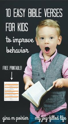 Bible Verses for Kids   Parenting   Behavior