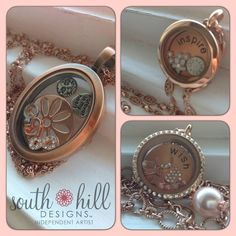 Beautiful Rose Gold Create Your Story, Locket Charms, Lockets, South Hill Designs, Beautiful One, Pocket Watch, Bracelet Watch, Rose Gold, Artist