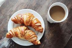 Croissant with coffe for tea time ;P