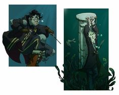 A couple of panels inspired by an old (but gold) drarry fic, Underwater Light by Maya. The fic is set in an hypothetical seventh year, where Harry has t. The Second Task Harry Potter Comics, Fanart Harry Potter, Mundo Harry Potter, Harry Potter Draco Malfoy, Harry Potter Ships, Harry Potter Fan Art, Harry Potter Universal, Harry Potter Fandom, Harry Potter Memes