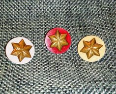 Vintage Girl Scout Membership Star Pins, Set of 3 $7 free shipping