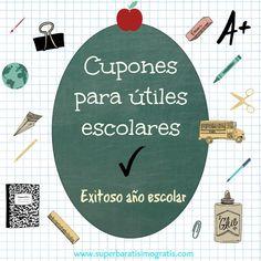 Cupones para ahorrar en útiles escolares #backtoschool #coupons #sales #superbaratisimo #gratis