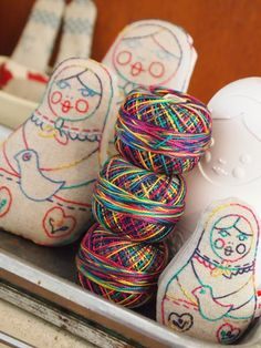 hand embroidered dolls