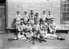 """Stars"" baseball team, Saint Michael's College,  Santa Fe, NM. 1924. Photographer: T. Harmon Parkhurst. Palace of the Governors Photo Archives."