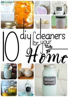 This year I'm bringing you 10 DIY Cleaners For Your Home. Because a clean home can be as fresh and natural as spring itself.