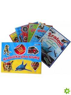 Krabička pro kluky - 6 knížek se samolep