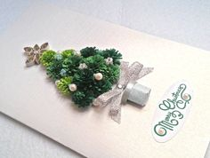 Handmade Christmas Card Quilling Christmas by KateCreatesSerenity