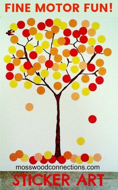 A fun fall craft for toddlers and preschoolers to work on fine motor and make a pretty fall art project!
