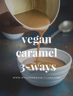 vegan caramel 3-ways