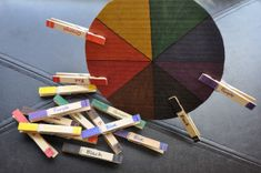 Color wheel and clothespins -- Good for learning her colors and fine motor skills!!