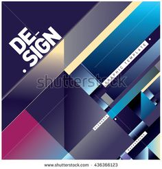 Vector Illustration Modern colorful background material design with diagonal shape. Design template for poster, publication, wallpaper, and web design. - stock vector