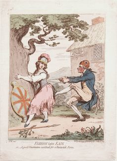 Fashion before Ease by James Gillray (1793)